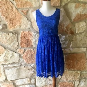 Anthropologie Maude Blue Lace Dress